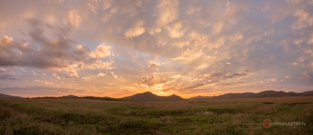 Saddle Mountain Sunset Pano