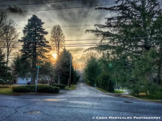 Sunset on Hilltop Drive
