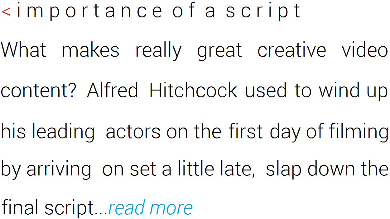 Importance of Script