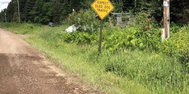sign on a backroad along North Shore of MN