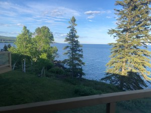 Looking from our rented condo toward Grand Marais MN
