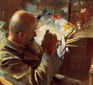Detail: 'An Artist In His Studio' by John Singer Sargent