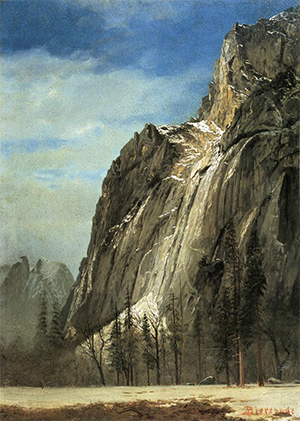 'Cathedral Rocks, A Yosemite View' by Albert Bierstadt