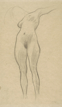 Figure Study for 'Medicine' by Gustav Klimt