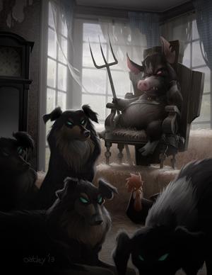 "My ""Animal Farm"" Digital Painting for ImagineFX."