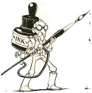 Inktober Guy drawn by Jake Parker