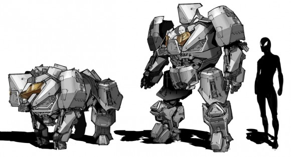 'Rhino' Concept Art from 'The Amazing Spider-man 2' by Robert Simons