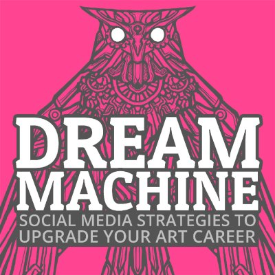 Intricate illustration of a clockwork owl. Album art for Chris Oatley's new course called Dream Machine: Social Media Strategies To Upgrade Your Art Career! Artist: Ejiwa Ebenebe.