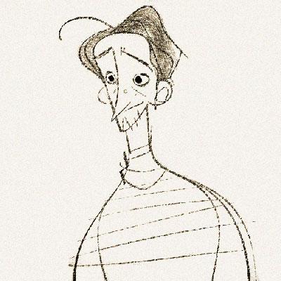 Self Portrait by Disney Character Designer James Woods