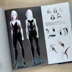 Character Concept Art for 'Spider-Gwen' from 'Into The Spider-Verse.' Character Art by Shiyoon Kim, Omar Smith, Naveen Selvanathan and Justin K. Thompson.