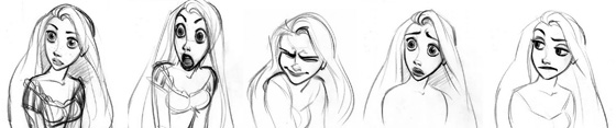 Rapunzel-Glen-Keane-Sketches