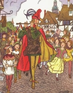 Vintage Illustration of The Pied Piper