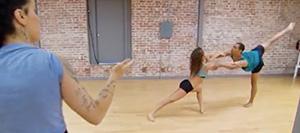 Tiffany & George Rehearse With Choreographer Sonya Tayeh