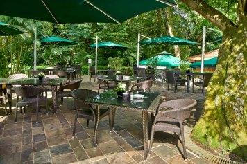 Interior Photography of Rear Area of Pergola restaurant at Swiss Club Singapore
