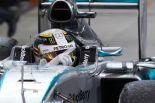 Lewis Hamilton celebrates victory in the 2015 Bahrain Grand Prix (Image: Mercedes AMG F1)