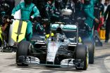 Nico Rosberg leaves the pits on his way to victory in Austria, 2015 (Image: Mercedes AMG F1)