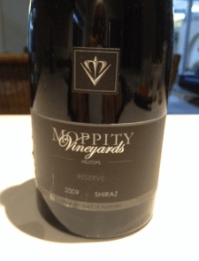 2009 Moppity Vineyards Hilltops Reserve Shiraz