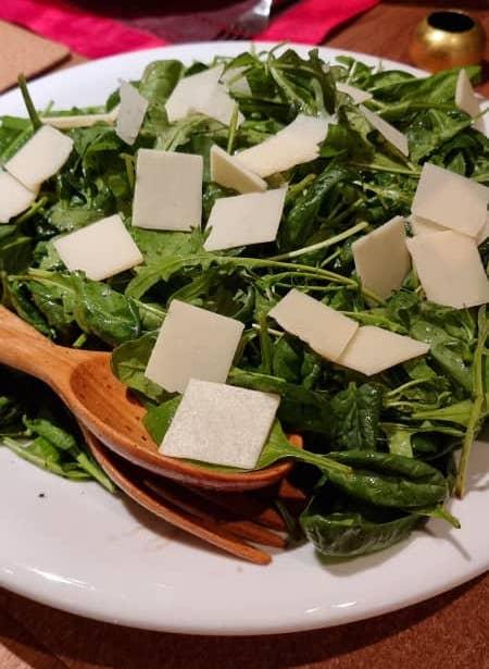 Spinach rocket & parmesan salad