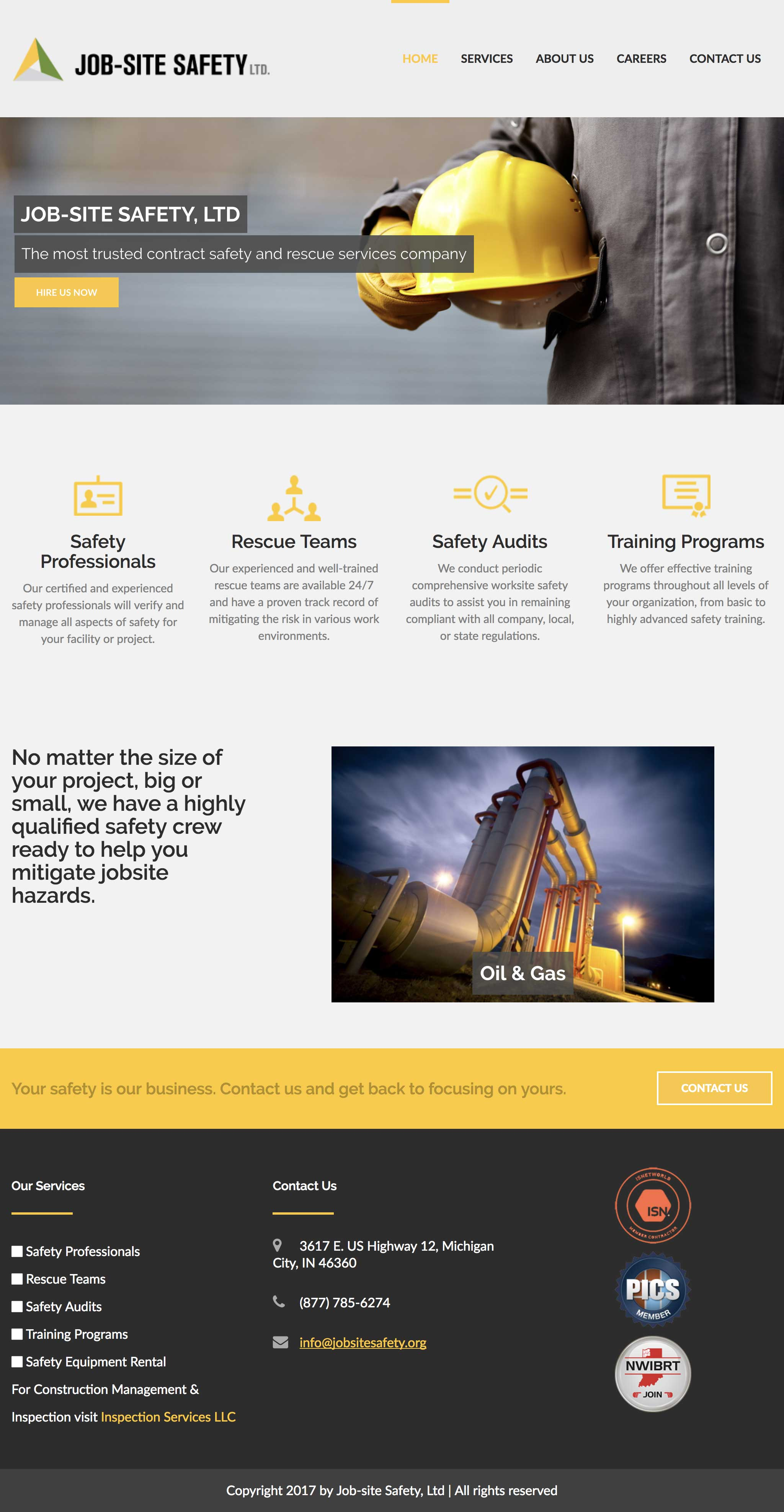 Job Site Safety's website
