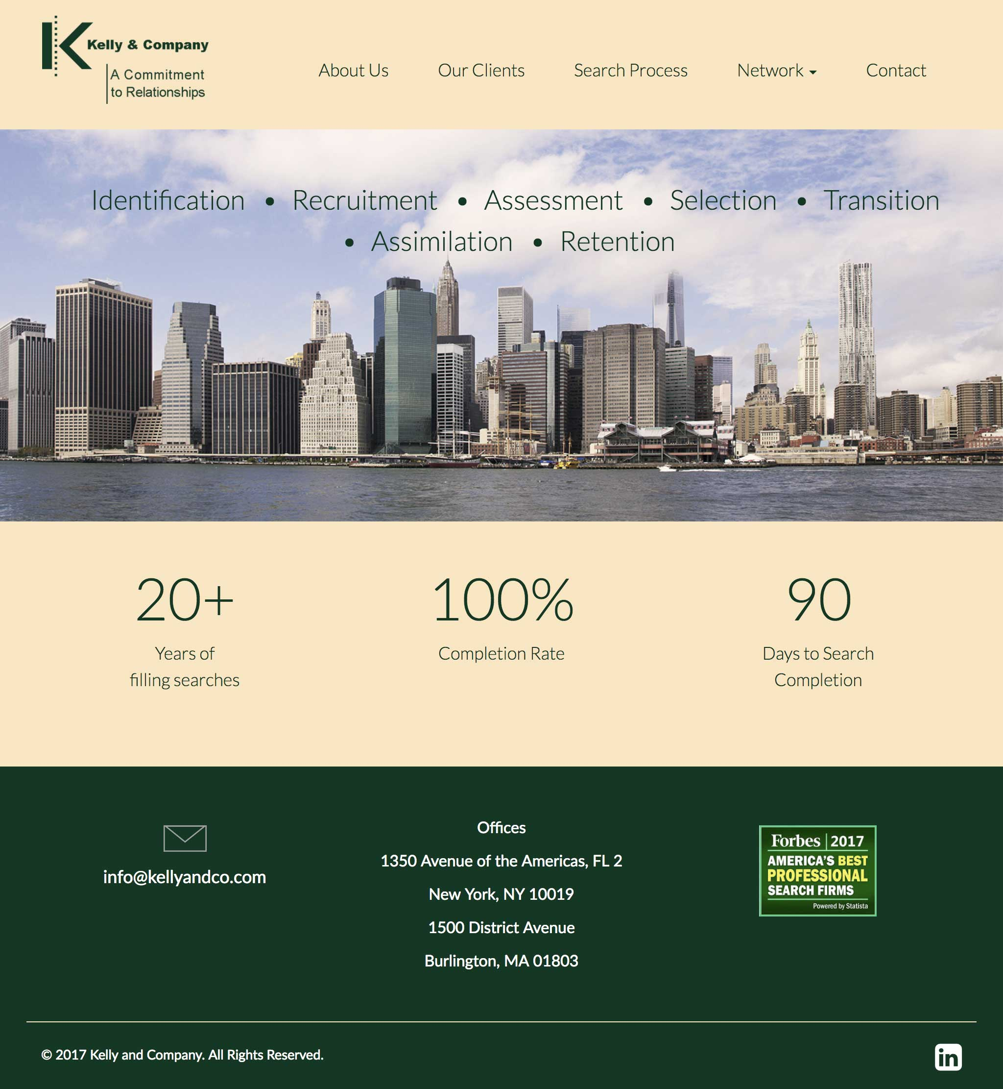 Kelly and Company's website