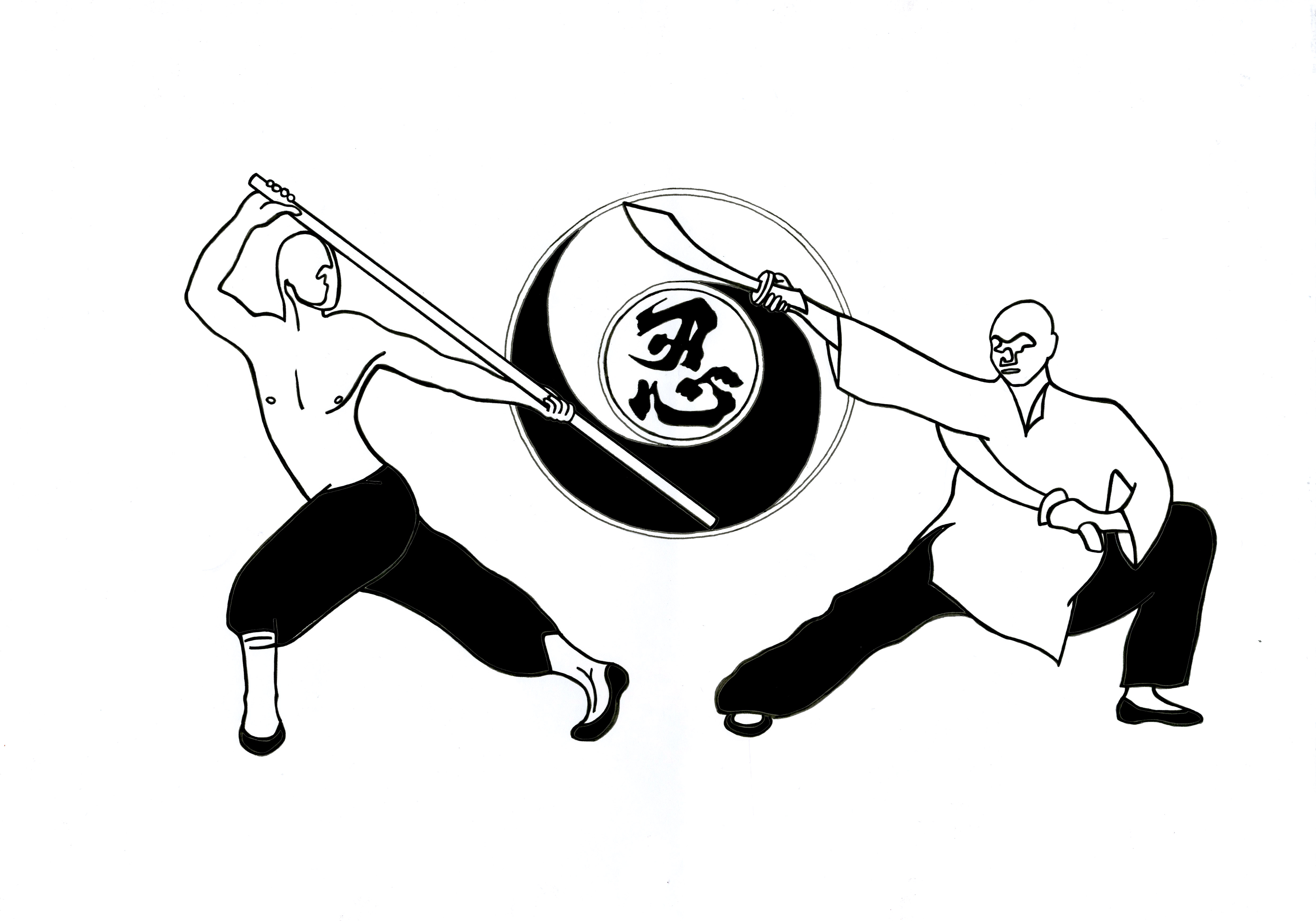 Kung Fu Club T Shirt Design