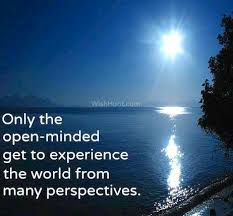 Only the open minded