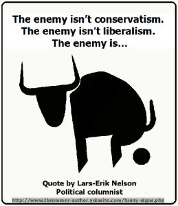 The enemy is bullshit