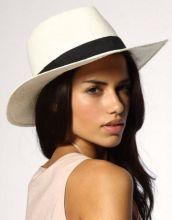 Her white fedora