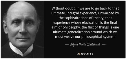 Whitehead the flux of things