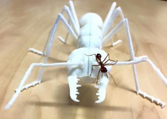 3D-printed bull ant 3