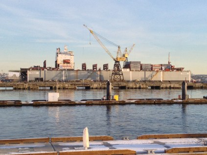 The eastern portion of the Shipyard's continues to operate to this day. Chris Slater photo.