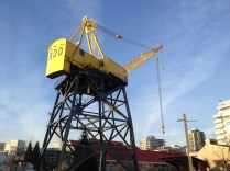 An old crane which would of been used during construction back in the yard's heyday. Chris Slater photo.