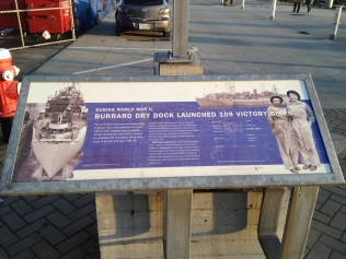 One of the many signs explaining the yard's historical significance to the city. Chris Slater photo.