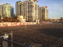 Volleyball nets are a popular feature of the Ship Yards . . . in warmer months that is.