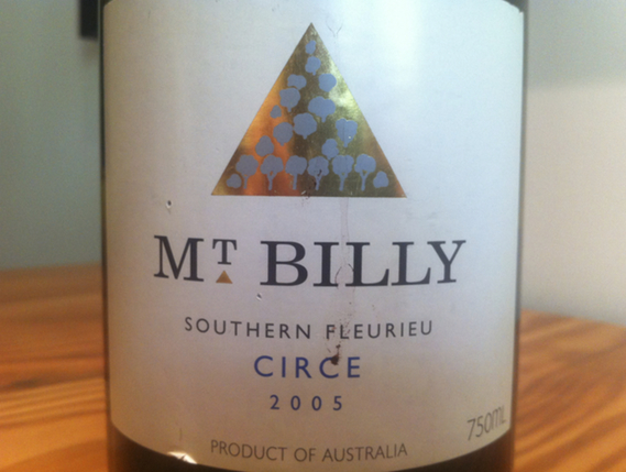 Mt Billy Southern Fleurieu Circe 2005