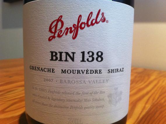 Penfolds Bin 138 Grenache Mourvèdre Shiraz 2007