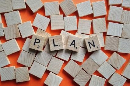 Plan scrabble tiles