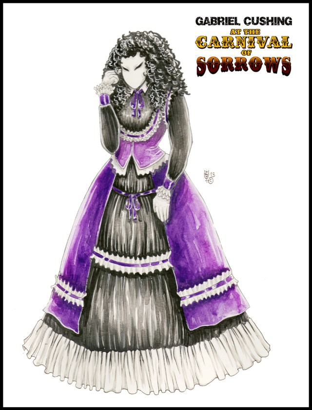 Gabriel Cushing at the Carnival of Sorrows - Concept art for The Porcelain Woman