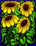 Flowers 2 painting by Chris Shaw, 1996