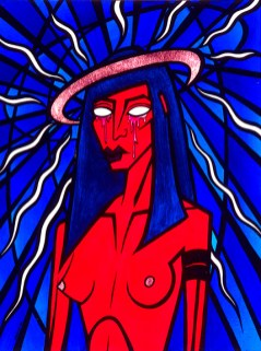 Madonna Red Crying painting by Chris Shaw, 2000