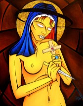 Madonna Dagger painting by Chris Shaw, 2003
