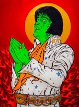 Elvis Illuminati painting by Chris Shaw, 2010