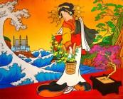Madonna Fukushima painting by Chris Shaw, 2011