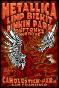 Metallica, Linkin Park poster by Chris Shaw
