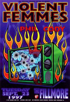 Violent Femmes poster by Chris Shaw