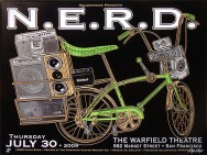 N.E.R.D. poster by Chris Shaw
