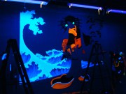 process picture of Madonna Fukushima - UV Wall