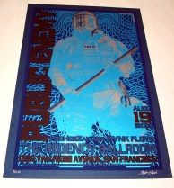 Public Enemy poster Chris Shaw - Dark Blue variant