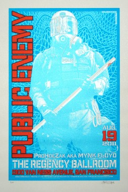 Public Enemy poster Chris Shaw - Blue Pearl variant