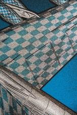 Elvis Costello silkscreen poster by Chris Shaw (Detail 3)